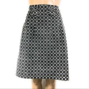 GRACE Skirt Size 14 Gray White Knee Length